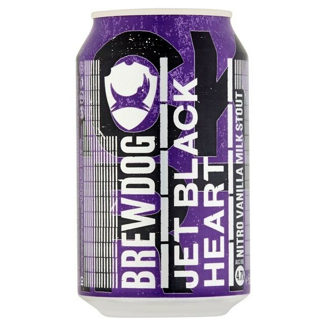 BrewDog Jet Black Heart Nitro 330mL CAN CTN