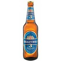 Baltika #3 Lager 4.6% 500ml Bottle CTN
