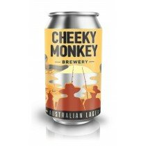Cheeky Monkey Australian Lager 375mL CAN CTN