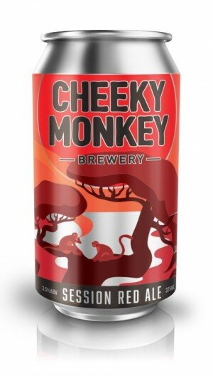 Cheeky Monkey Session Red Ale 375mL CAN CTN